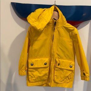 BABY GAP Yellow Rain Jacket.